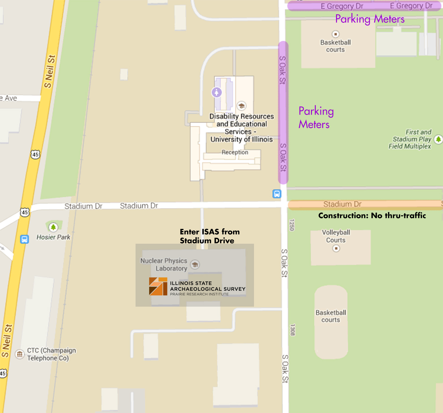 ISAS street parking map