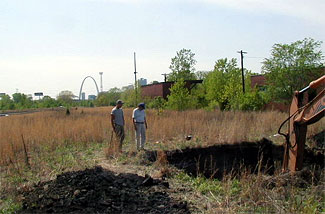 Mike Kolb at CSX Railyards – East St. Louis Mound Center.