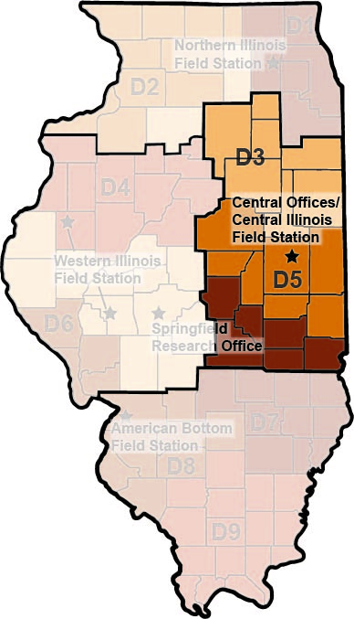Central Offices/Central Illinois Field Station location map