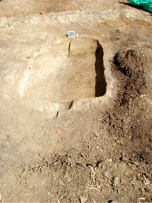 'keyhole' cellar post-excavation at 11L730