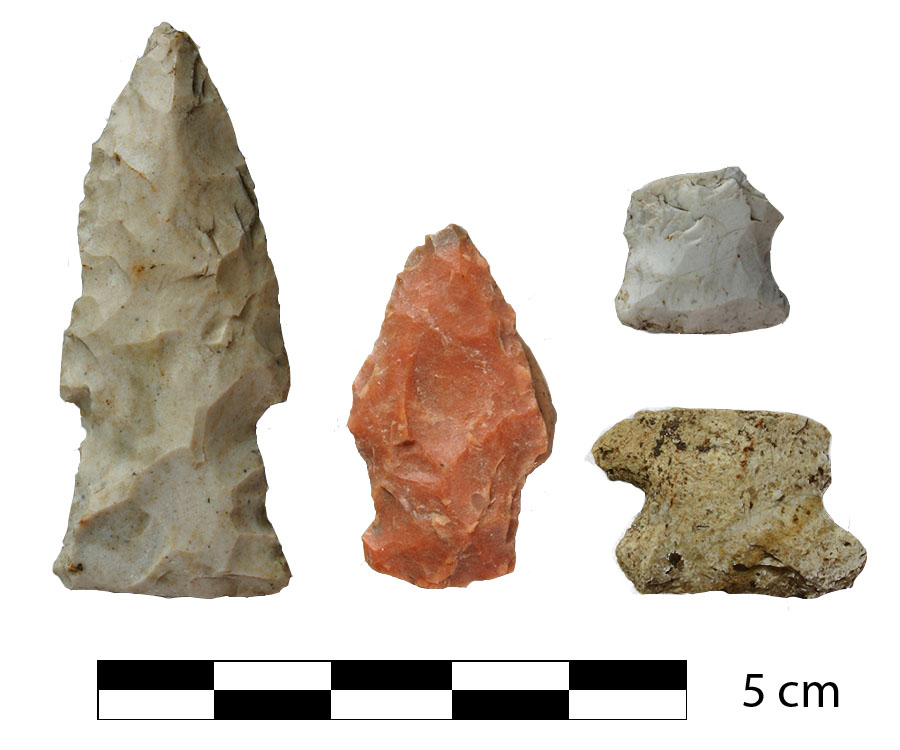 Projectile Points Recovered from 11RI411