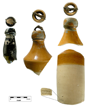 Beer bottles from F26 Dutcher II site.