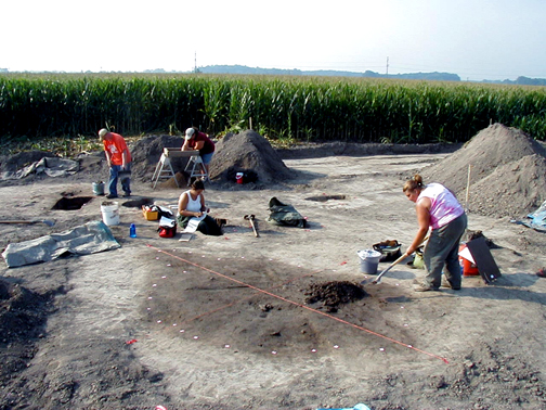 Excavation at the Chenoweth site