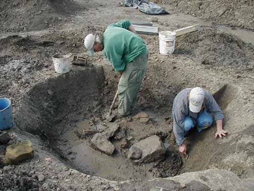 Excavation at the Horseshoe Pond site