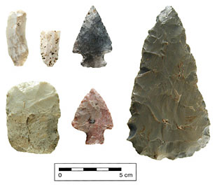 Middle Woodland lithics from the Missed Point site