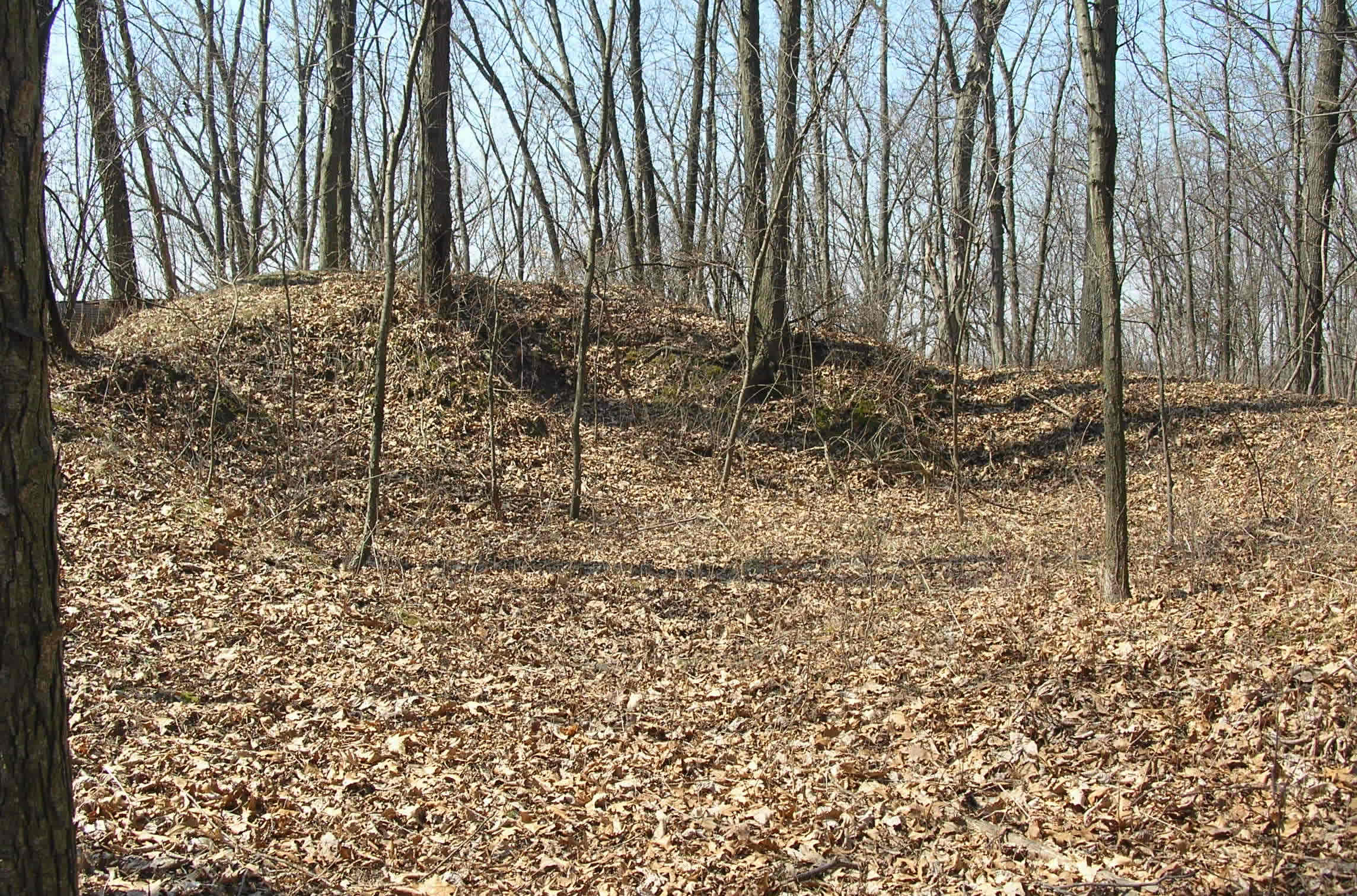 Indian Springs Mound before reconstruction