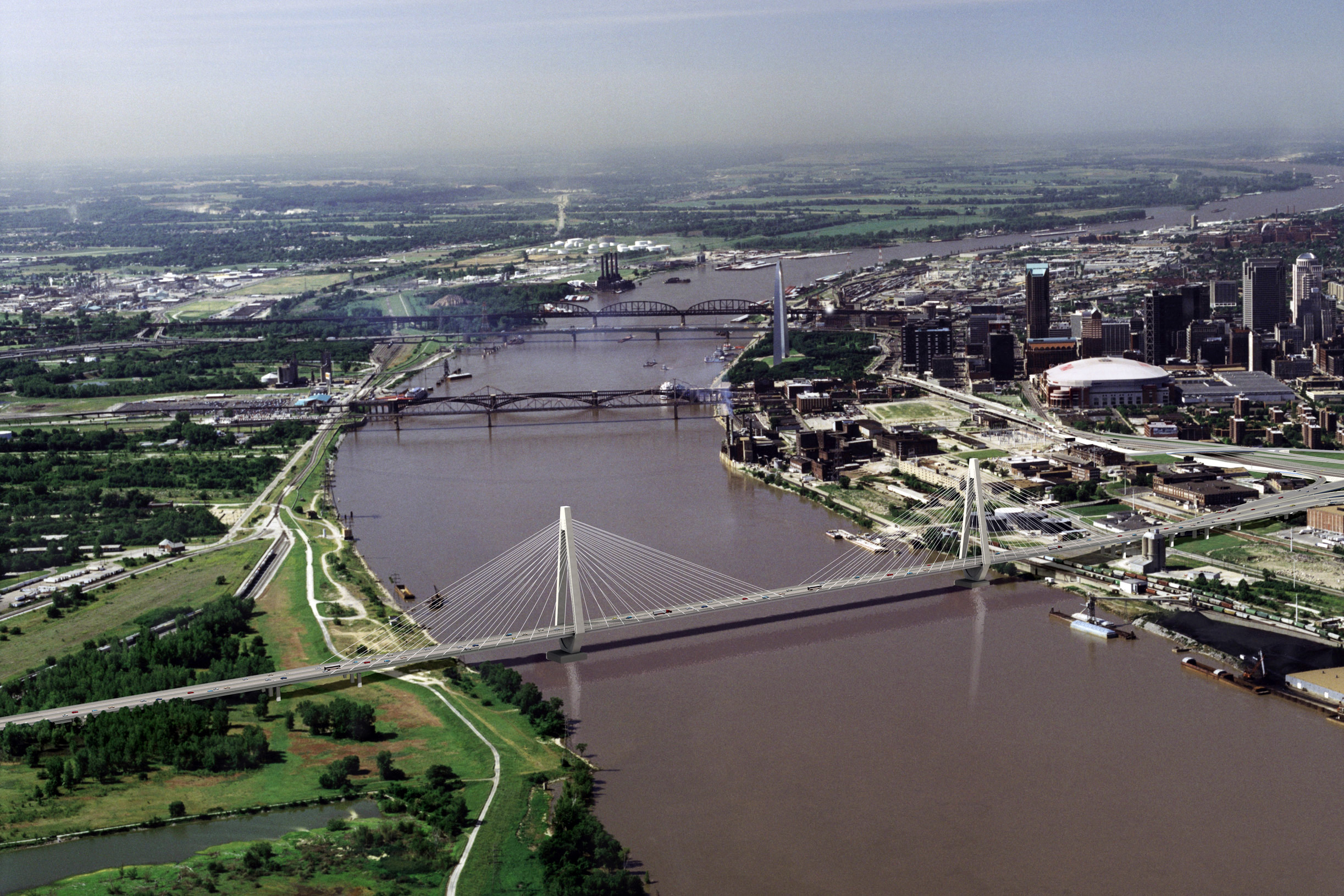 3D Rendering of the New Mississippi River Bridge