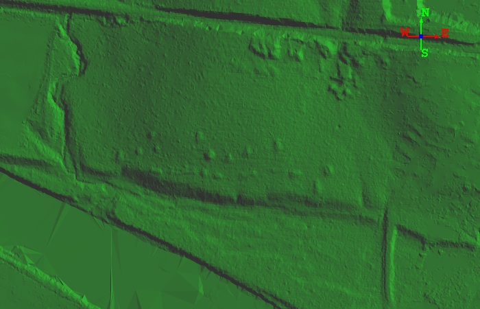 Two dimensional LiDAR derived image of the Shirland site