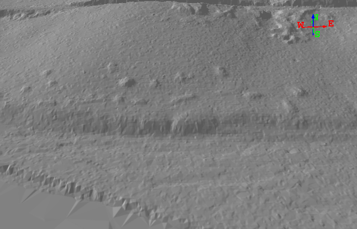 Oblique view of Shirland site with 2x vertical exaggeration