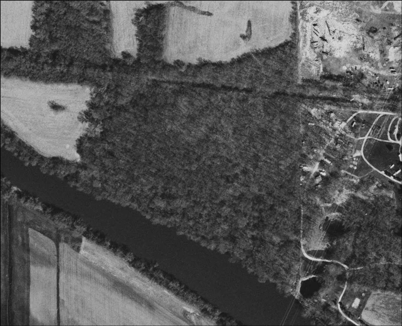 Aerial image of the Shirland site locale